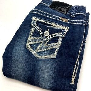 ROCK&ROLL COWGIRL BOOTCUT 28x34 SEQUIN PATCH 😎